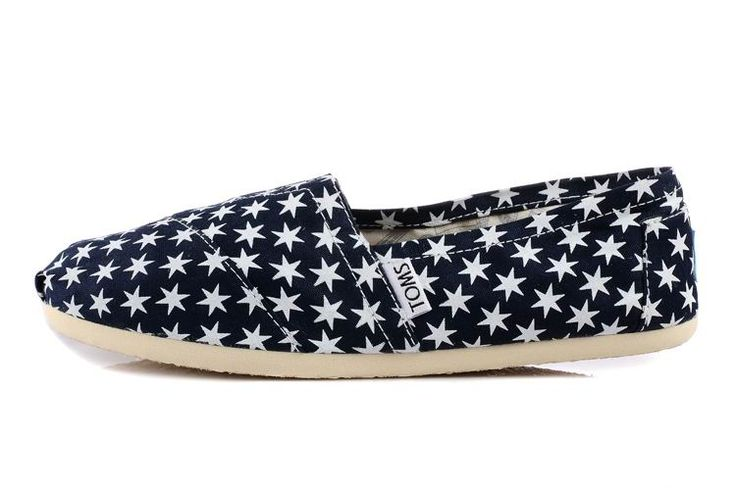Women Canvas Small White Star Small White Star Toms Shoes Now: $17.33
