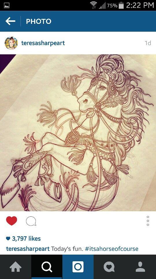carousel horse tattoo