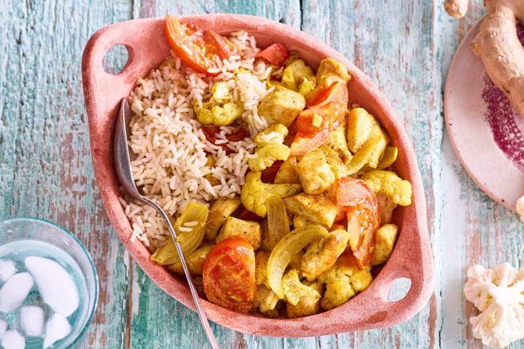 Een avondje India met deze lekkere roerbak! Heerlijk met groenten en rijst - Recept - Allerhande