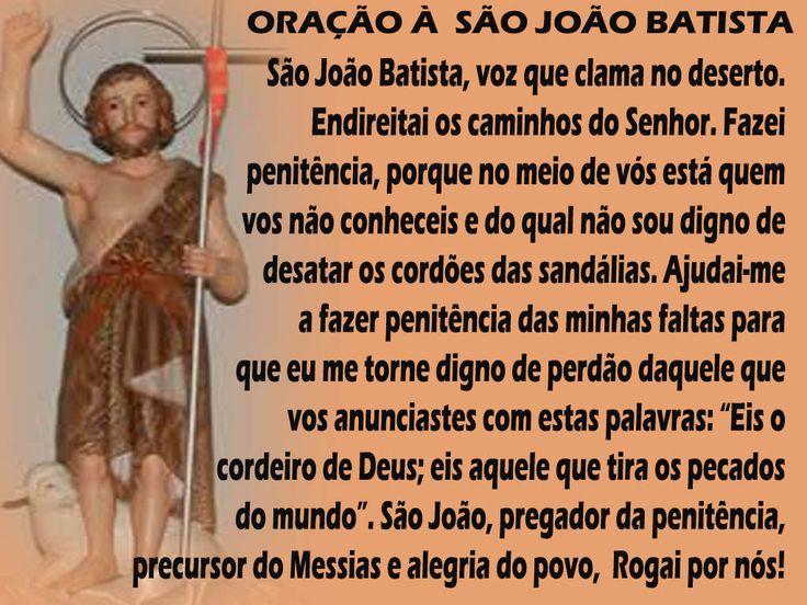 São João Batista é uma exceção, pois tem duas festas: seu nascimento, em 24 de junho, e sua morte, em 29 de agosto. Por quê? Quando Maria visitou Isabel,
