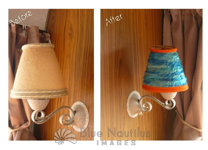 Clementine - lamp revamp in retro tangerine and turquoise
