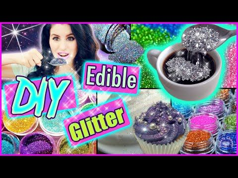 DIY Edible Glitter! | Eat Glitter For Breakfast! | Delicious Glitter! - YouTube