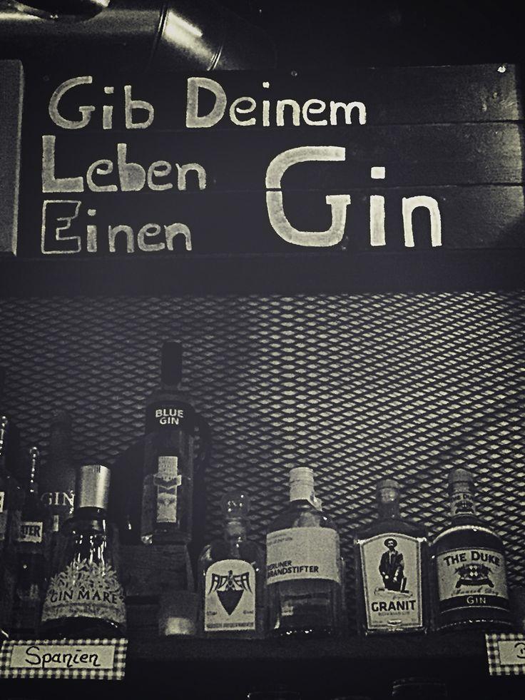 Gib deinem Leben einen Gin! Gute Idee