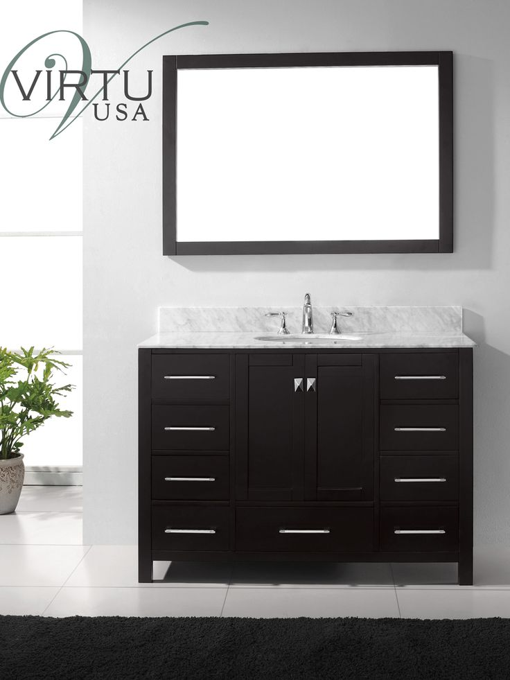 Pic On  Caroline Avenue Single Bath Vanity Espresso TradeWindsImports