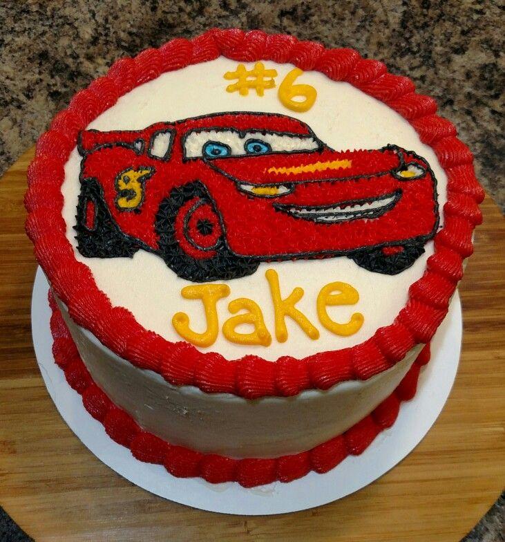 Lightning Mcqueen Buttercream Cake Car Cake Lightening Mcqueen