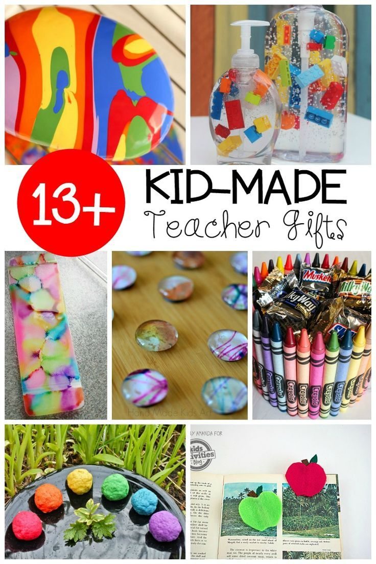 This year for teacher appreciation week, help your child make one of these kid-made teacher appreciation gifts! Your child's teacher will love it!