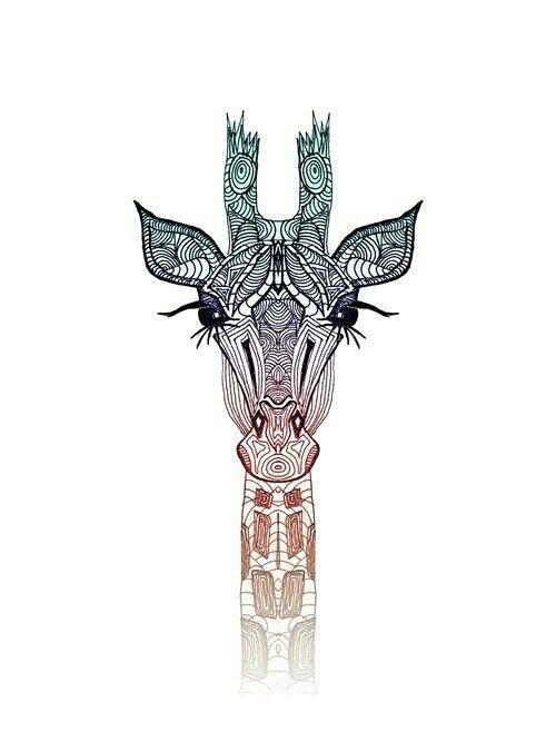 Beautiful Tribal Giraffe Print