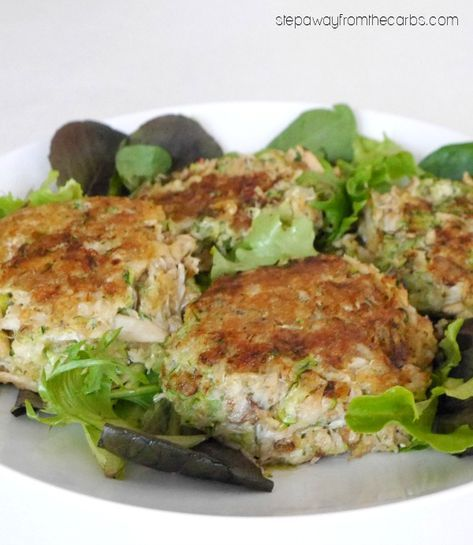 Low Carb Zucchini Crab Cakes - perfect for lunch or an appetizer!