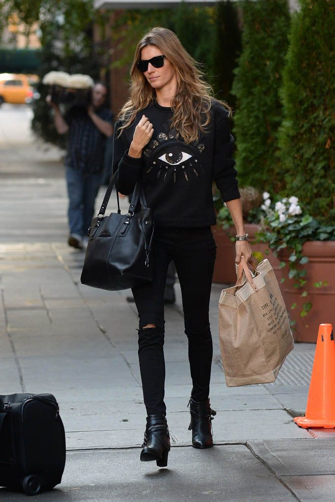 Resultado de imagen de total look black sport celebrities