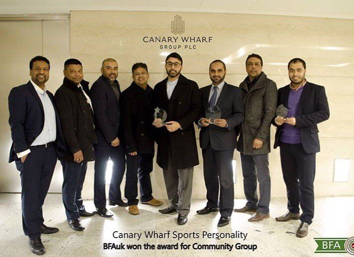 Congratulations to our management @bfauk for winning the Canary Wharf community group award. And also to @imz1974 for his individual award for voluntary services. #bfauk #sportingbengalutd #canarywharf #awards #community #pride #inspiration #keepworkinghard #freefood by sporting_bengal_united