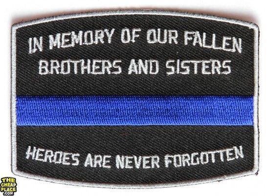 Fallen Officer Memorial Patch