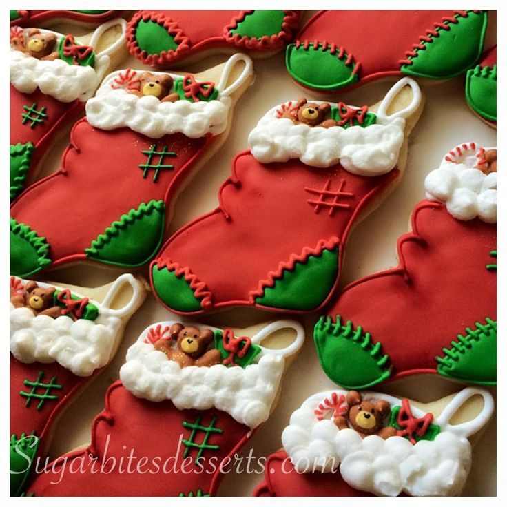 Christmas Tree Decorated Cookies: Best 25+ Christmas Stocking Cookies Ideas On Pinterest