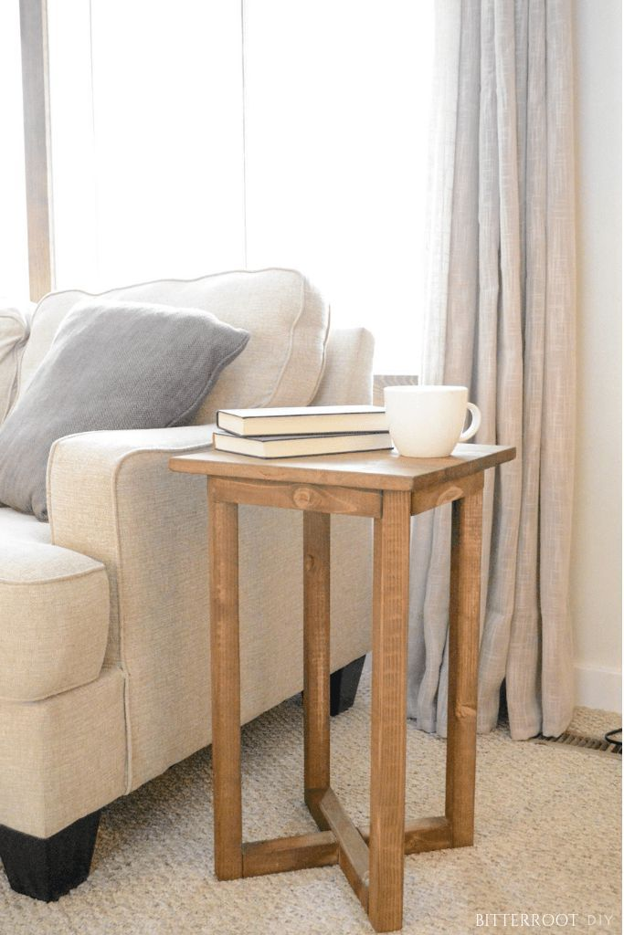 Rustic X Base Diy End Table Diy End Tables Decor Home Decor