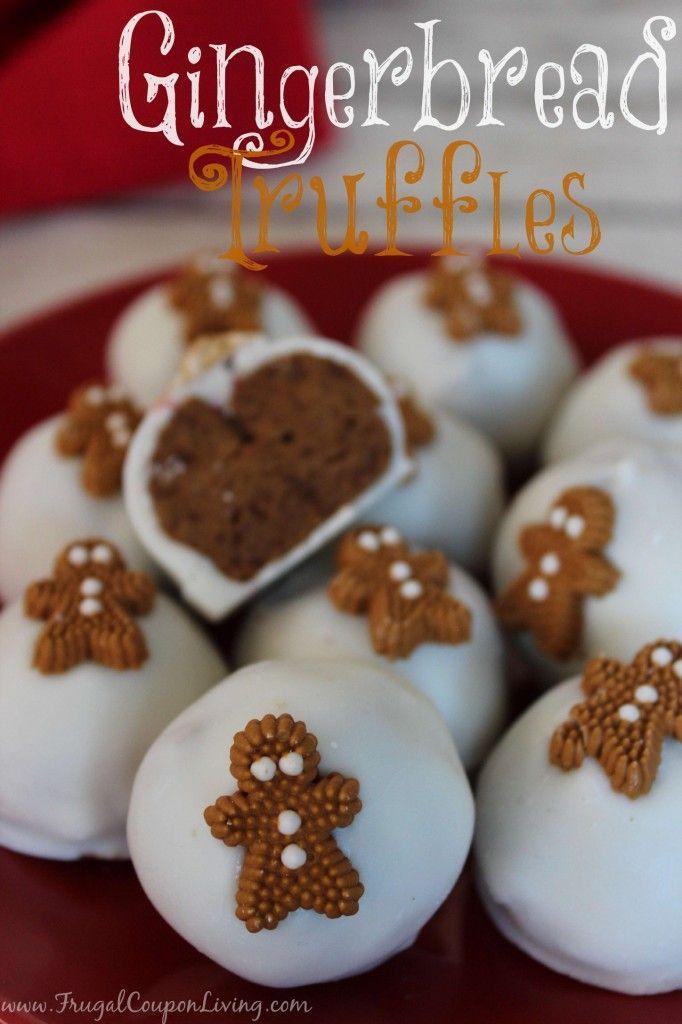 Gingerbread Truffles - Dessert Balls that Taste like Cookie Dough.