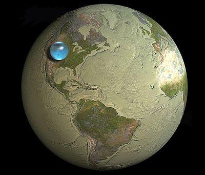 Ilustrasi Jika Seluruh air dibumi Dikumpulkan Menjadi Satu   Spacenesia - Jika Seluruh Air Bumi Dikumpulkan, Berapa banyak bagian dari p...