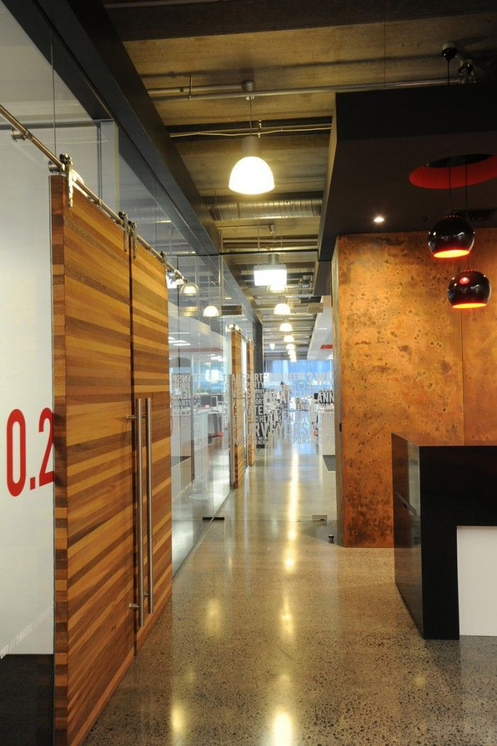 Office tour woods offices auckland wood doors group for Office design auckland