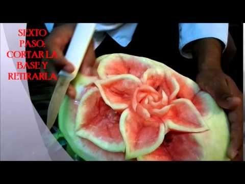 Tallado de frutas y verduras excelente técnica para sorprender a la familia - YouTube