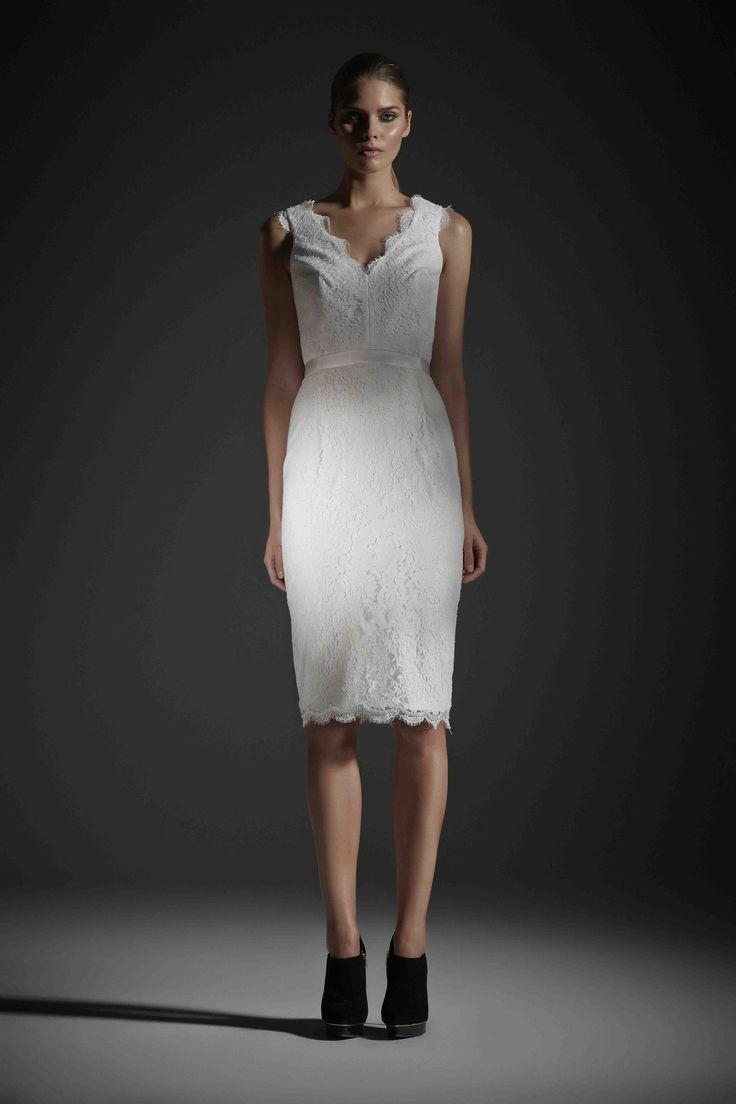 R14 YVONNE DRESS IVORY