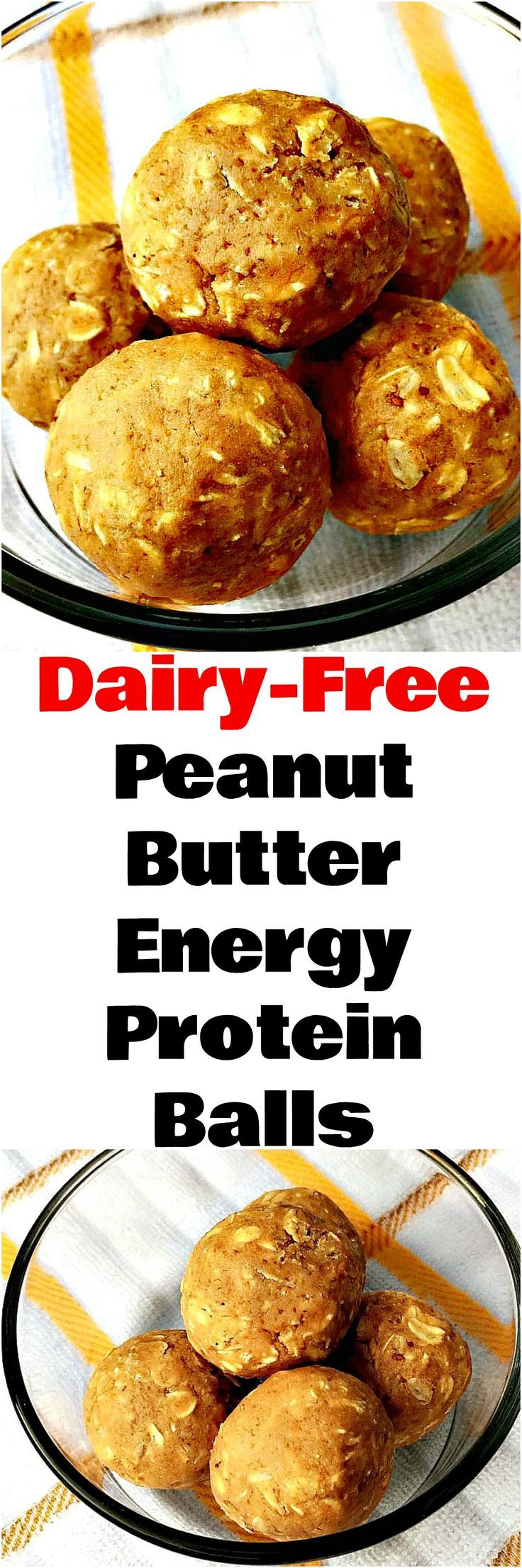 Dairy-Free Peanut Butter Energy Protein Balls are a quick and easy vegan recipe with fuel for energy. This recipe is no-bake and perfect for meal prep using Quest Protein powder. #Protein #ProteinRecipes #Breakfast #DairyFree #DairyFreeRecipes #Keto #KetoRecipes #QuestProtein