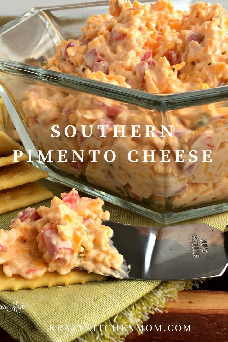 Southern Pimento Cheese is a classic cheese spread in the south and once was referred to as southern workers food in the Carolinas.