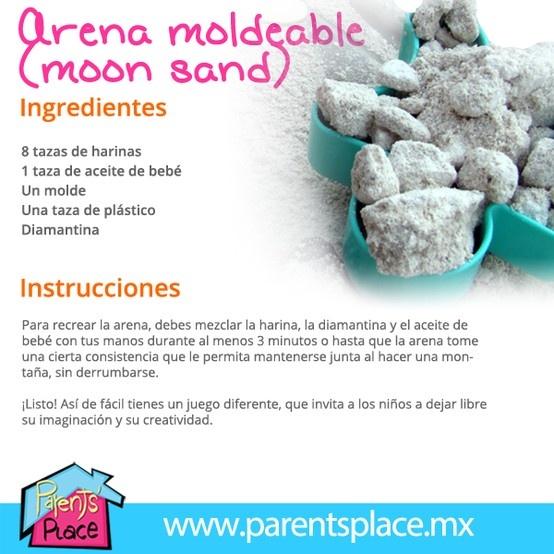 Arena moldeable o moon sand