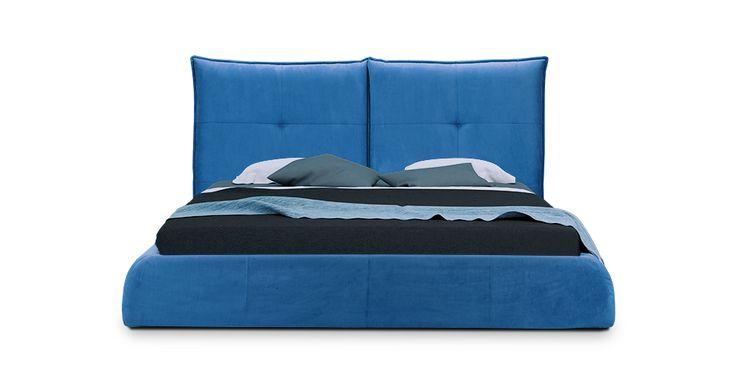 Синяя кровать Мягкая кровать Кровать Спенсер — характеристика, цена. Кровать для дома