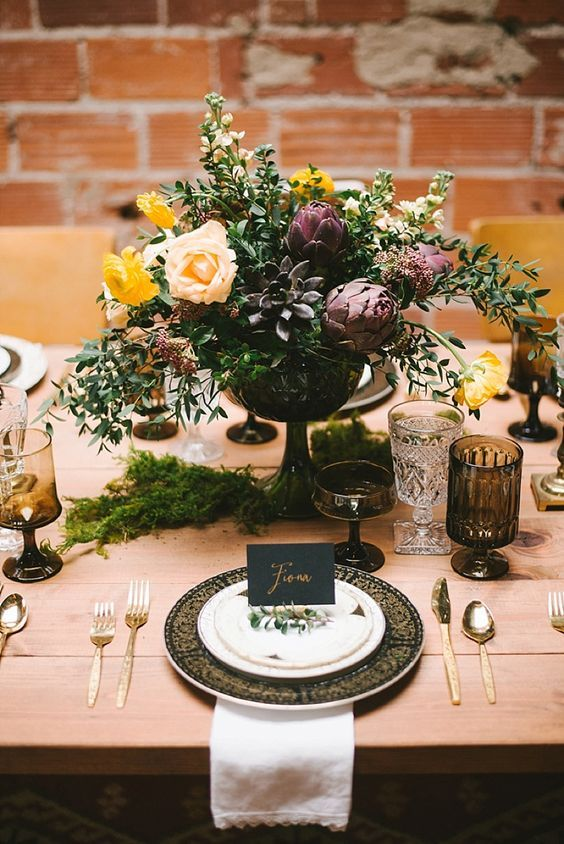 Industrial Boho Wedding Inspiration. Industrial Wedding InspirationTable Setting ... & 163 best Metallic Event Design images on Pinterest | Wedding stuff ...