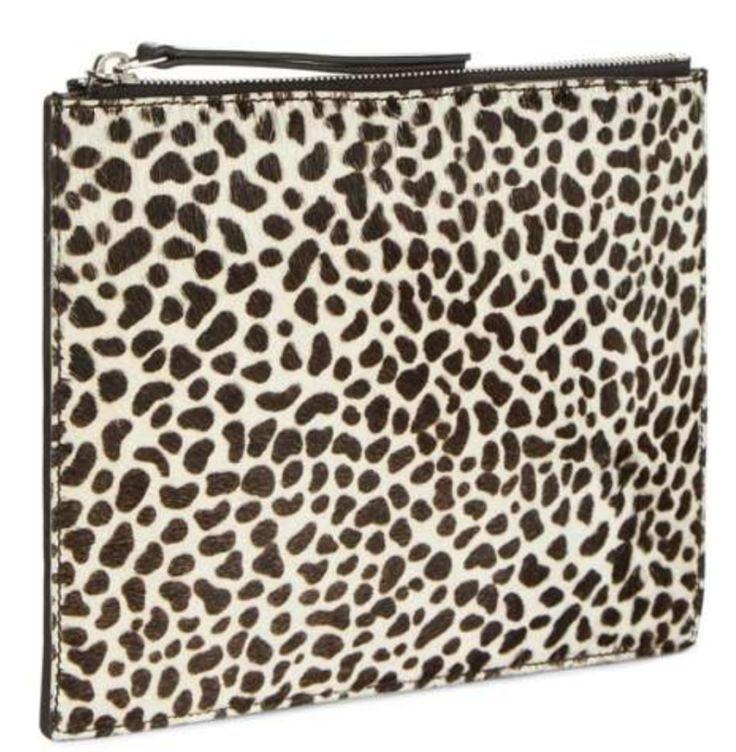 Leather animal print clutch bag from Jaega