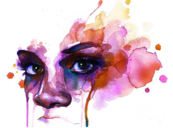 Marion Bolognesi Watercolor Faces