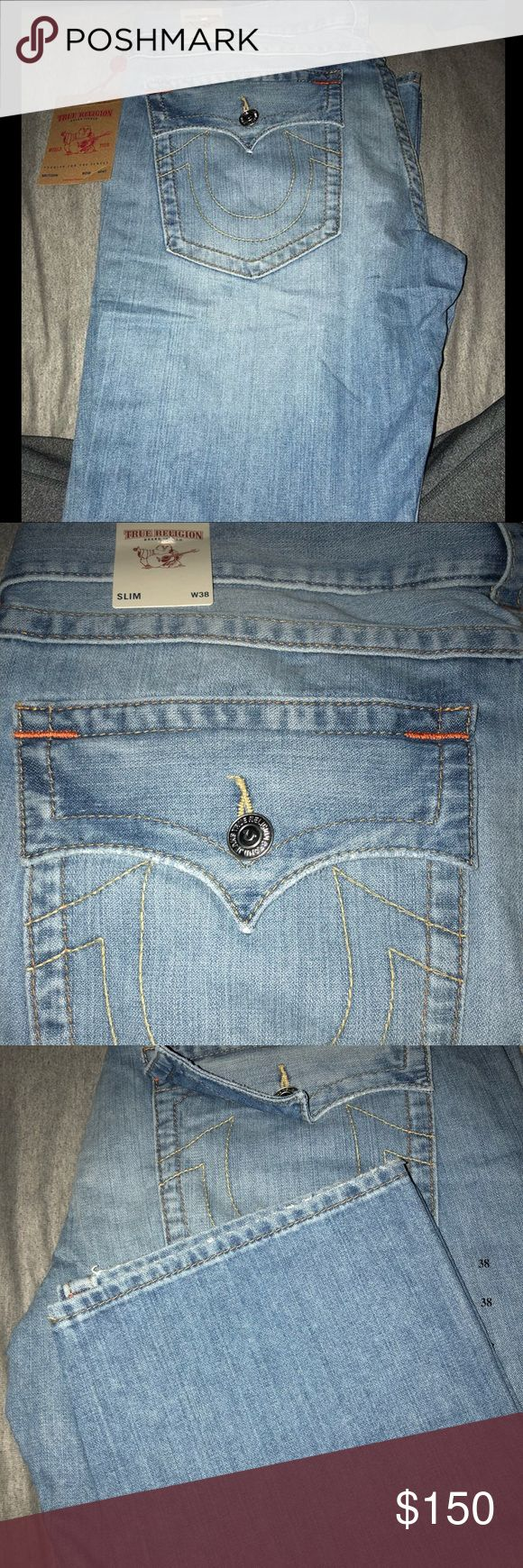 True Religion men jeans Brand new with tags! Size:38 slim straight True Religion Jeans Slim Straight #mensjeansbrands