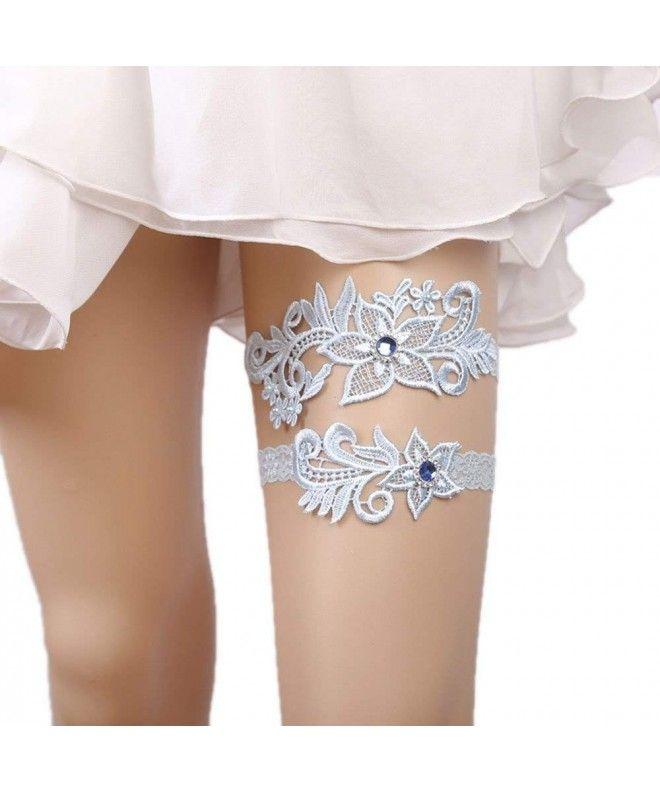 WoodBury Wedding Womens Bridal Garters Set for Bride - Type 9 - Blue -  C618E6H8TTN | Bridal garters set, Wedding garter set, Garter set
