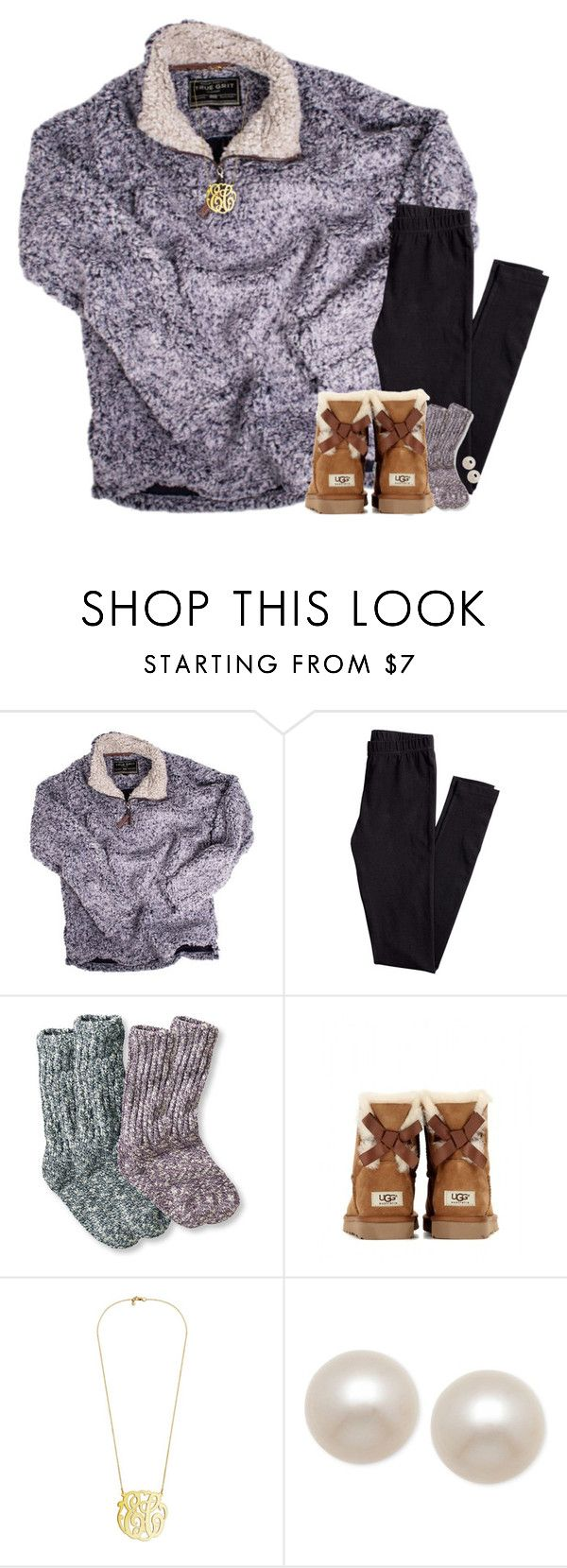 """""""I love this pullover!"""" by pineappleprincess1012 ❤ liked on Polyvore featuring True Grit, H&M, UGG Australia and Honora"""