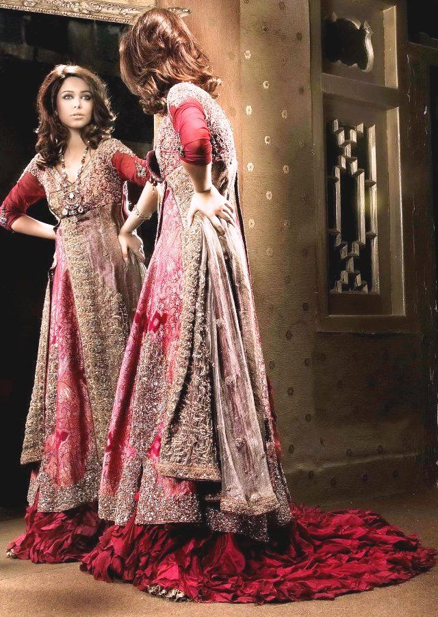 Latest- Meeras- (Nilofer Couture)- Bridal -Wear -Collection- 2015