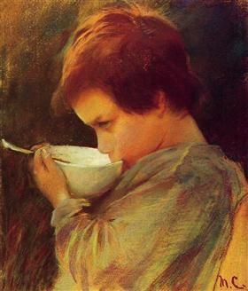 Child Drinking Milk - Mary Cassatt