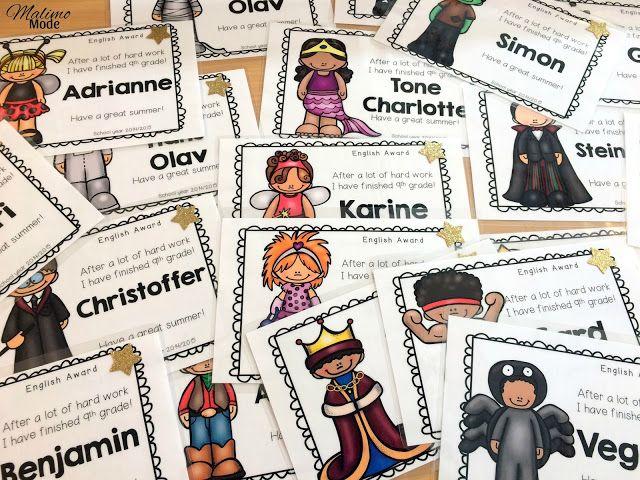 Diplomer for å runde av skoleåret! 40 ulike design som kan redigeres. Engelsk, bokmål og nynorsk!