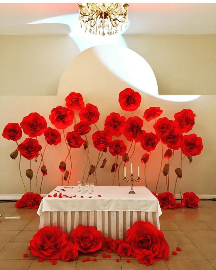 Backdrop Paper Flowers Wedding