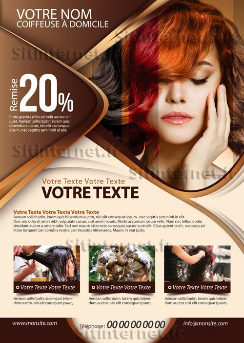 9 best salon de coiffure images on Pinterest Hair salons - hair salon flyer template
