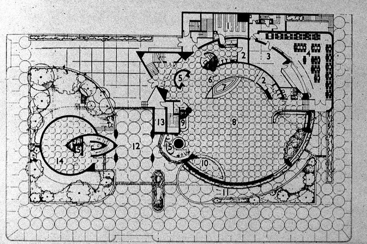 ground floor plan of the guggenheim museum in 1948 new the new dowse art museum athfield architects archdaily