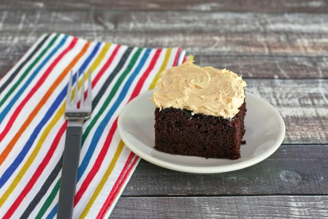 This is a chocolate mayonnaise cake, made with cocoa and mayonnaise. The mayonnaise is a surprise replacement for the fat and eggs in the moist cake.