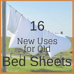 Bed sheets are free or inexpensive fabric sources. Instead of hauling old sheets away in boxes, figure out if there is some way you can give them new life.
