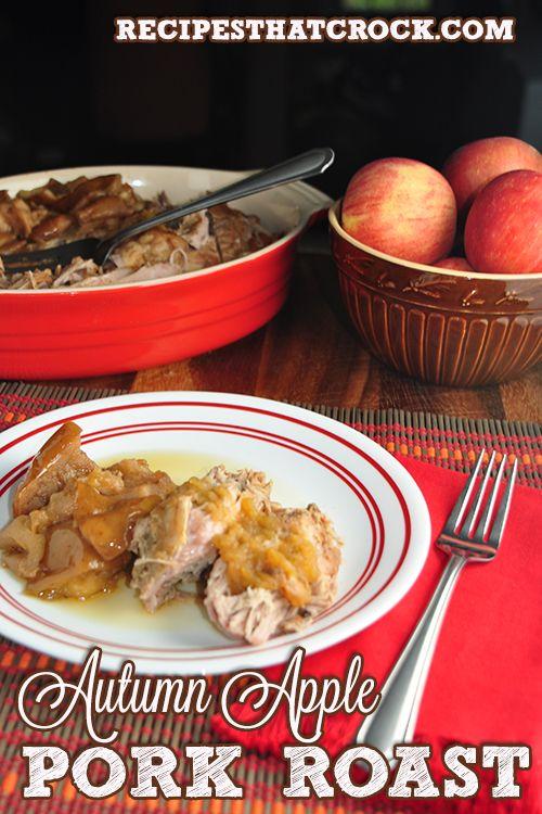 4 lb Pork Loin Roast Salt and Pepper -To Taste 6 Apples- Cored and Quartered 1/4…   – Plan ahead crockpot recipes
