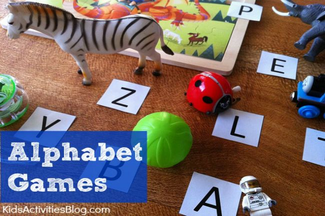 This is a fun way to help kids learn the alphabet - by matching letters to items you find around the house.