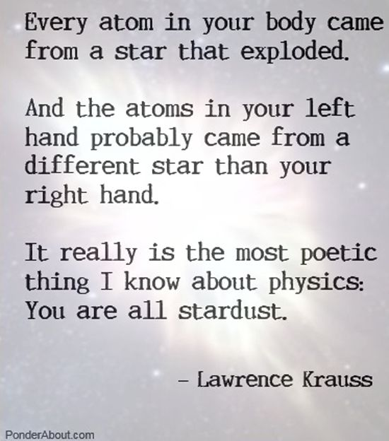 You came from the stars. That fact alone is more mind blowing than any story ever given about how we were created. Does it mean that there is no God? Absolutley not... Depends on what your definition of God is I guess.