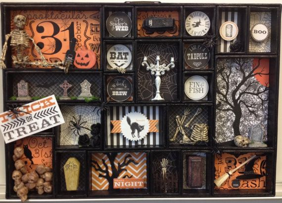 Halloween Printer Tray Shadow Box Tim Holtz by enchantedephemera