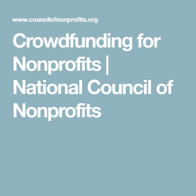 Crowdfunding for Nonprofits   National Council of Nonprofits