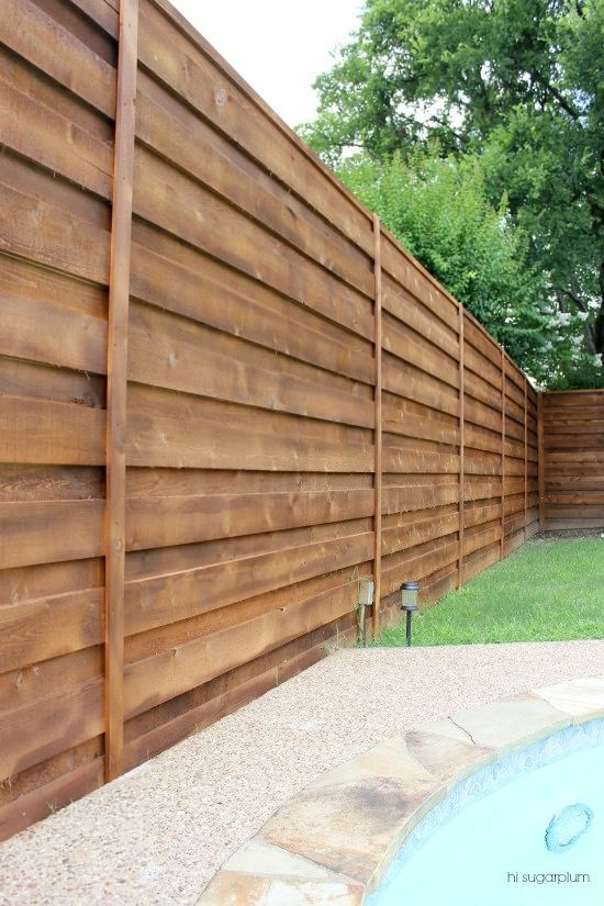 {The Backyard} A New Horizontal Fence | Hi Sugarplum! | Bloglovin'