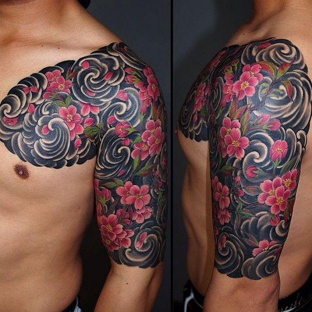 Sakura half sleeve by Kenji Shigehara