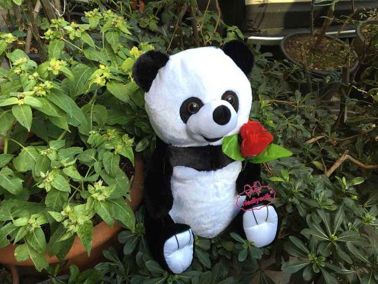 Oyuncak Peluş Panda Gül Buketli 45 Cm Yeni yıl Sevgililergünü özel
