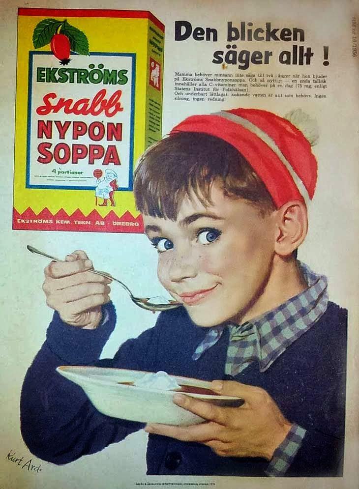 Ekströms Snabb Nyponsoppa 1956