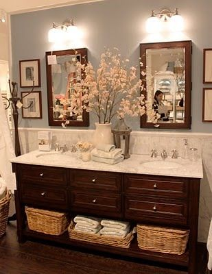 Best Double Sinks Ideas On Pinterest Double Sink Bathroom - Bathroom vanity hutch cabinets for bathroom decor ideas